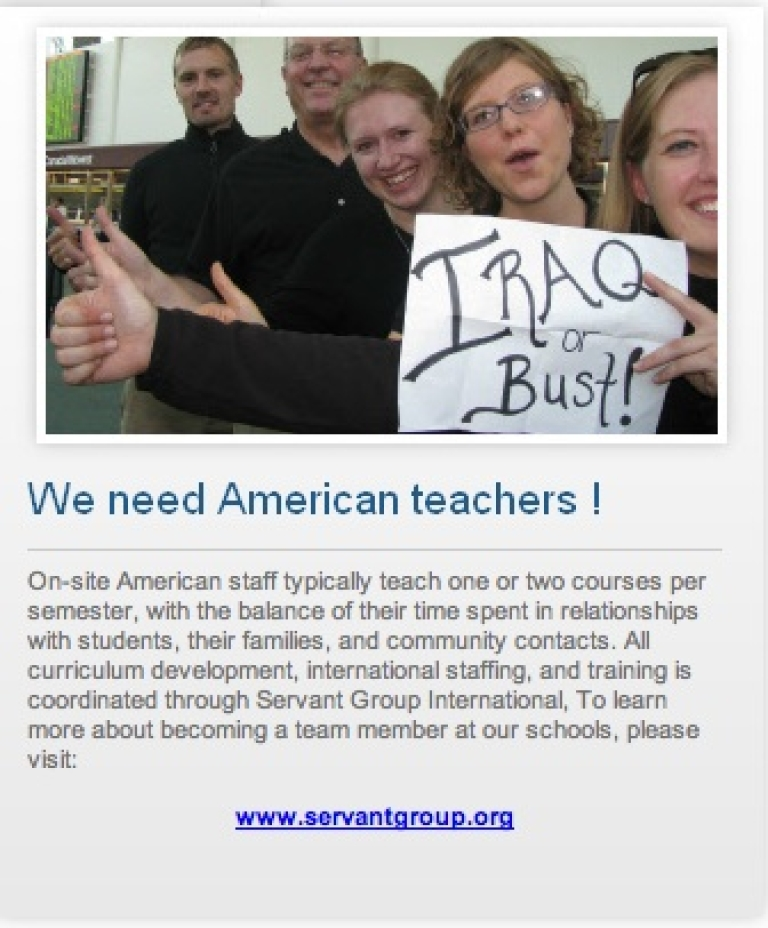 <p>An ad from the Medes School website.</p>
