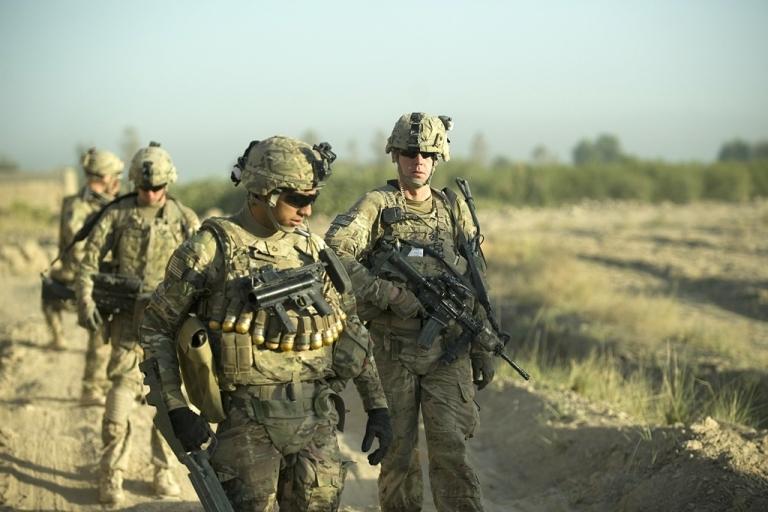 <p>US Army soldiers in Panjwai, Afghanistan.</p>