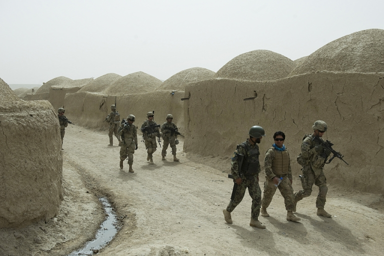 <p>The last of the US troop surge in Afghanistan finally withdrew on September 21, 2012, leaving 68,000 troops in the country.</p>