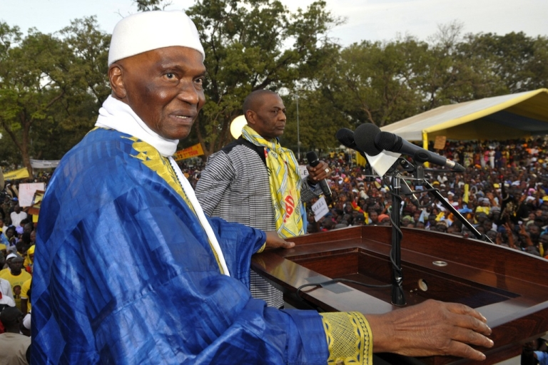 <p>Senegal's leader Abdoulaye Wade is 85 years old while the median-aged Senegalese person hasn't yet turned 19. Wade, facing a storm of criticism over his third term presidential bid, looks on during a rally in Thies on Feb. 8, 2012.</p>