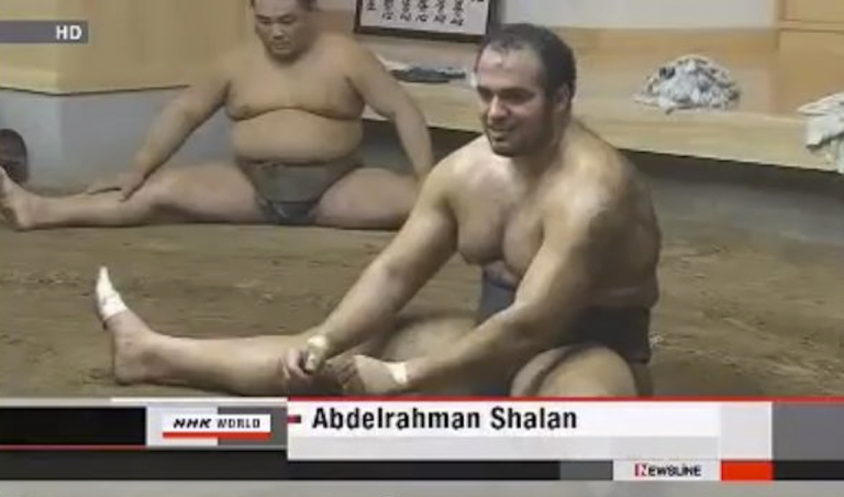 <p>Africa's first professional sumo wrestler made his debut March 13, 2012, in Osaka, Japan. Abdelrahman Ahmed Shaalan, 20, an Egyptian national who goes by the name