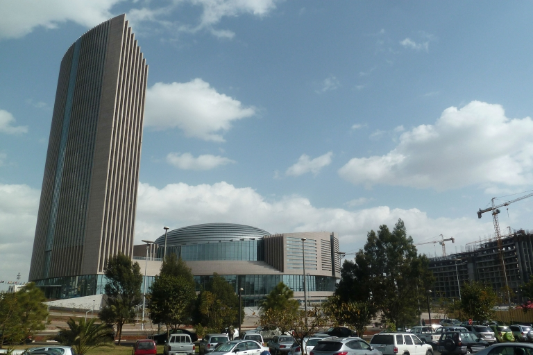 <p>A view of the new African Union headquarters in Addis Ababa on January 24, 2012. The towering building – Addis Ababa's tallest – was built by China and symbolizes the country's strengthening ties with Africa.</p>