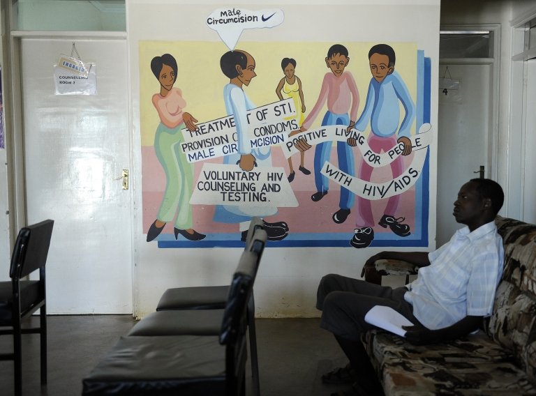 <p>The 2011 International AIDS Conference brought up ways of preventing the spread of AIDS infection.  Some of the ways Africans can prevent the spread are displayed in this mural in Kenya.</p>