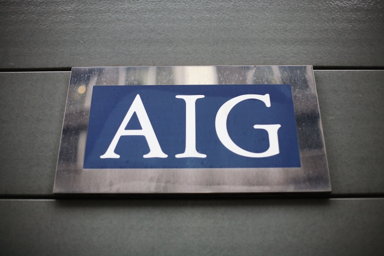 <p>A view of insurance company AIG in London, England, on Mar. 26, 2009.</p>