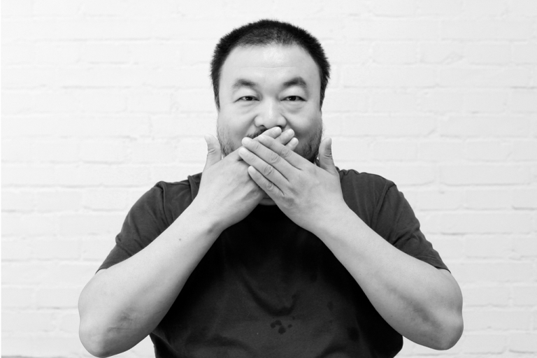 <p>Chinese artist Ai Weiwei in his studio in Beijing in 2009.</p>