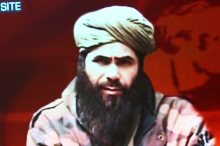 <p>Abdelmalek Droukdel alias Abou Moussab Abdelwadoud, head of Al Qaeda in the Islamic Maghreb (AQIM) seen on US monitoring group SITE Intelligence, on November 19, 2010 in Paris.</p>