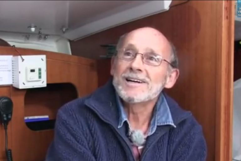 <p>French yachtsman, Alain Delord, is adrift in life boat near Tasmania.</p>