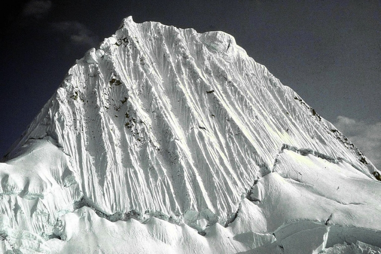 <p>Undated picture of the 19,000 feet of altitude Alpamayo peak, Central Peruvian Andes. Climbing the high peaks of the Cordillera Blanca mountain range is risky business.</p>