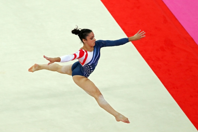 <p>Aly Raisman won the gold medal for the gymnastics floor series on Day 11 of the London 2012 Olympic Games at North Greenwich Arena on August 7, 2012 in London, England.</p>