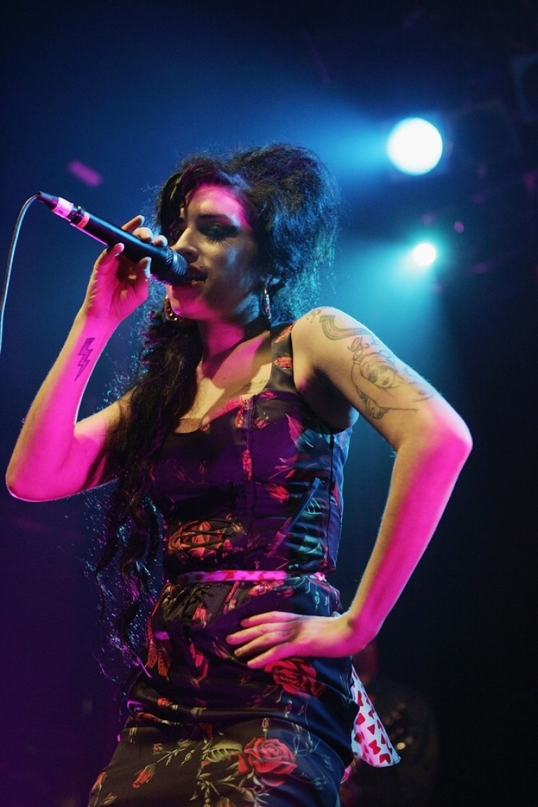 <p>Singer Amy Winehouse performs live on stage at Koko in Camden Town on November 14, 2006 in London. England.</p>