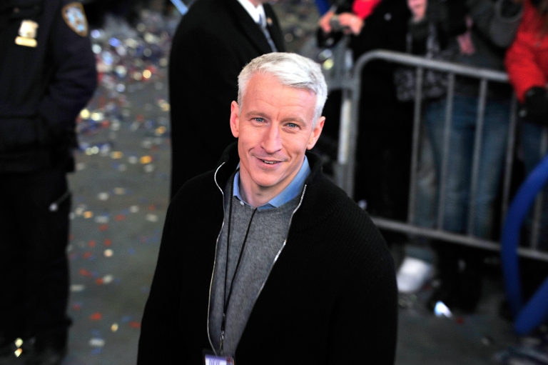 <p>TV journalist Anderson Cooper attends New Year's Eve 2011 with Carson Daly at Times Square on Dec. 31, 2010 in New York City.</p>