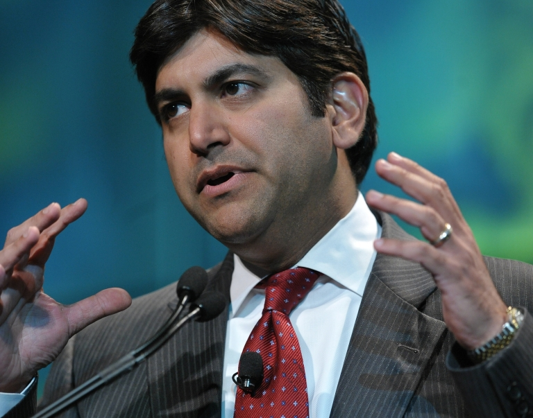 <p>White House Chief Technology Officer Aneesh Chopra speaks at the mHealth Summit at the Washington Convention Center in Washington, DC, on Nov. 9, 2010.</p>