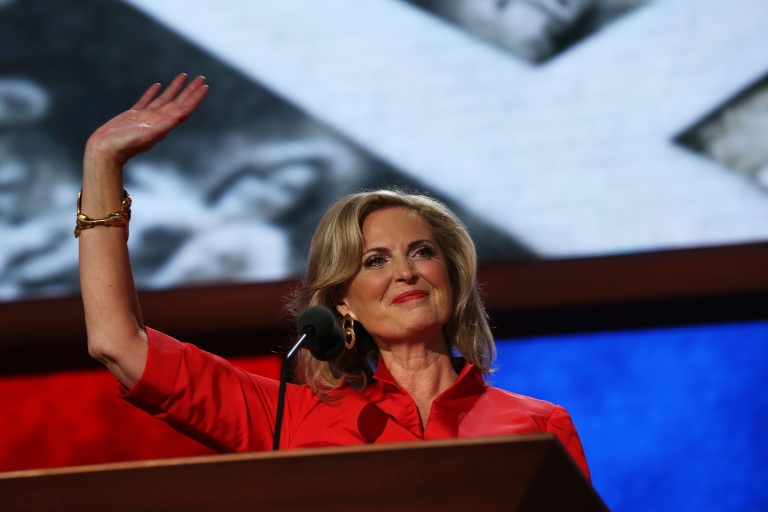 <p>Ann Romney speaks during the Republican National Convention on Aug. 28, 2012 in Tampa, Fla.</p>