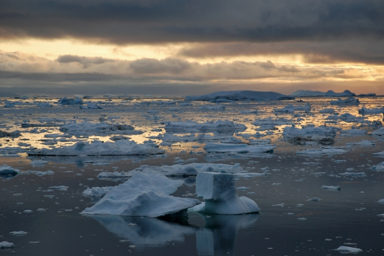<p>Ice Fjord of Ilulissat in Greenland. Some experts believe the Arctic ice cap will disappear completely in 20 to 30 years.</p>
