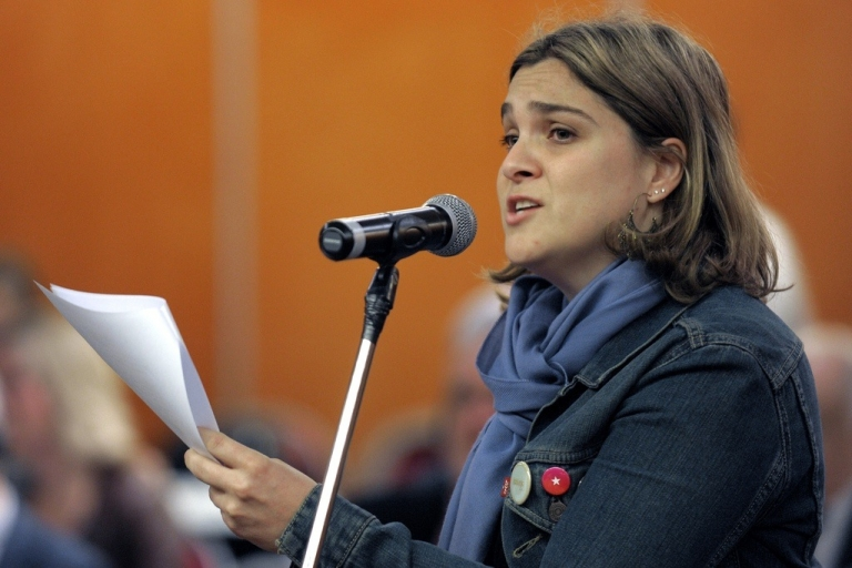 <p>Marcela Noble, the adopted daughter of the owner of Argentine media giant Clarin, on Nov. 10, 2009.</p>