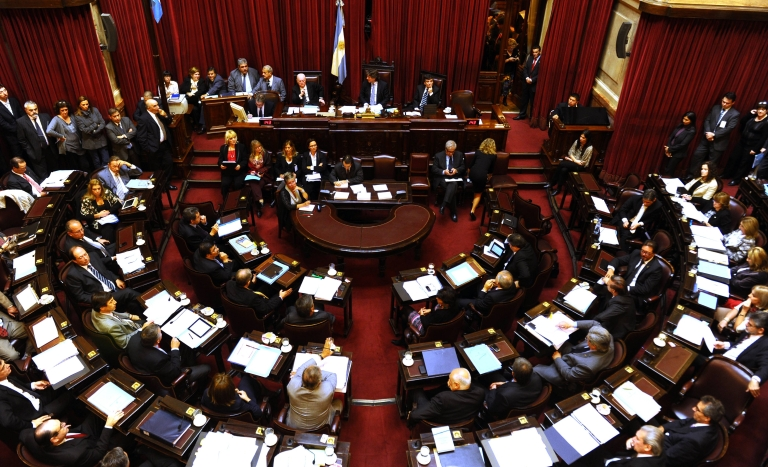 <p>View of the Senate Plenary Session chaired by Vice President Amado Boudou during discussions about the expropriation of YPF, on April 25, 2012 in Buenos Aires.</p>