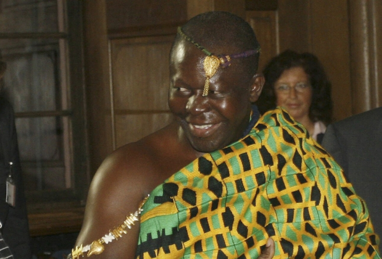 <p>Ghana's King Otumfuo Osei Tutu II of the Ashanti (Asante) kingdom, pictured here in 2007.</p>