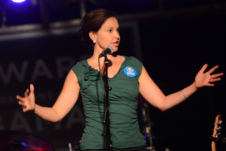 <p>Actress Ashley Judd addresses the crowd during the Tennesseans For Obama Benefit at The Cannery Ballroom on October 4, 2012 in Nashville, Tennessee. Her name has been thrown out as a possible contender for Senate Minority Leader Mitch McConnell's seat in 2014.</p>