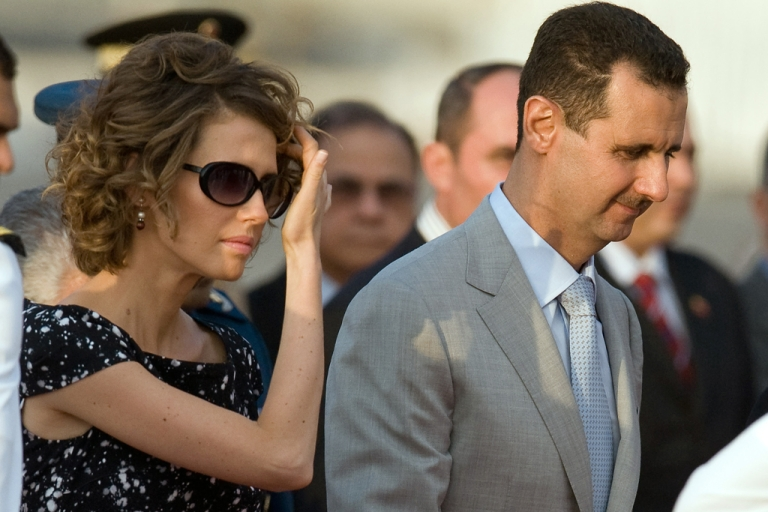 <p>The President of Syria Bashar al-Assad and his wife Asma al-Assad in 2010. It was announced on March 21, 2012 that the European Union plans to ban Asma al-Assad from traveling to or shopping in the EU after the release of e-mails revealed her support of the president's brutal crackdown on the Syrian opposition.</p>