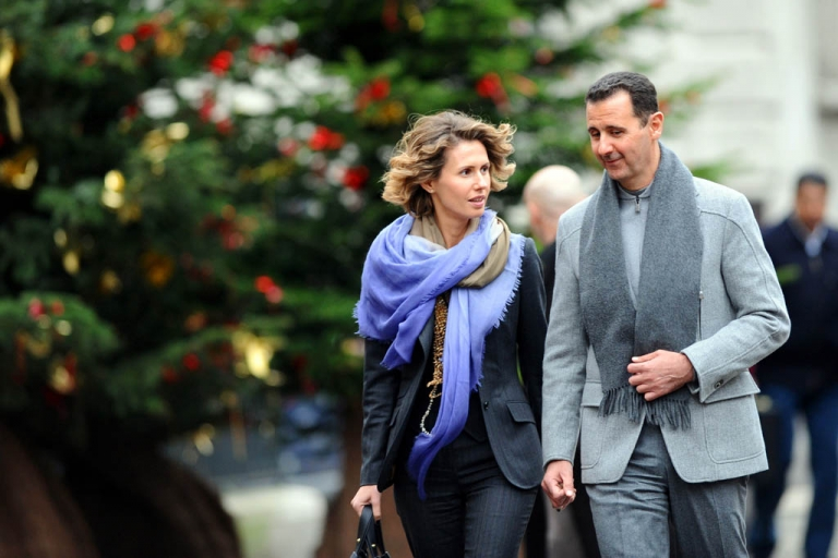 <p>Syrian president Bashar al-Assad and his wife, Asma, walk in Paris during an official visit to France in 2010. Would have made a great shot for his new Instagram account.</p>