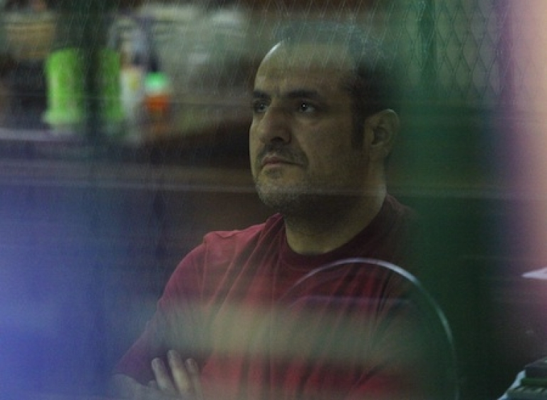<p>Atris Hussein, a Swedish-Lebanese man suspected of planning an attack in Bangkok, sits inside cell at a criminal court in Bangkok on January 17, 2012. Thai police charged a Lebanese man suspected of planning an attack in Bangkok after they raided a property and discovered chemicals that could be used to make a bomb.</p>