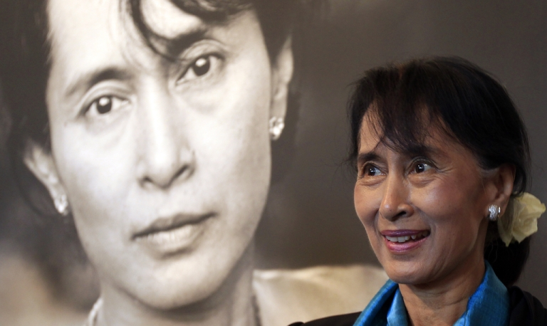 <p>Myanmar democracy icon Aung San Suu Kyi departed Sunday for her first trip to the US since her democracy struggles began in 1988.</p>