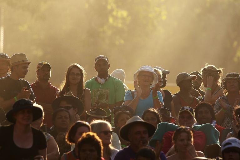 <p>An Australian crowd at the Laura Aboriginal Dance Festival on June 18, 2011 in Laura, Australia.</p>