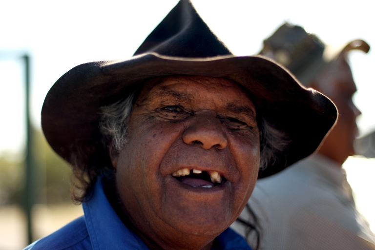 <p>Jimmy Crombie laughs as he has his picture taken on March 29, 2011 in Birdsville, Australia.</p>
