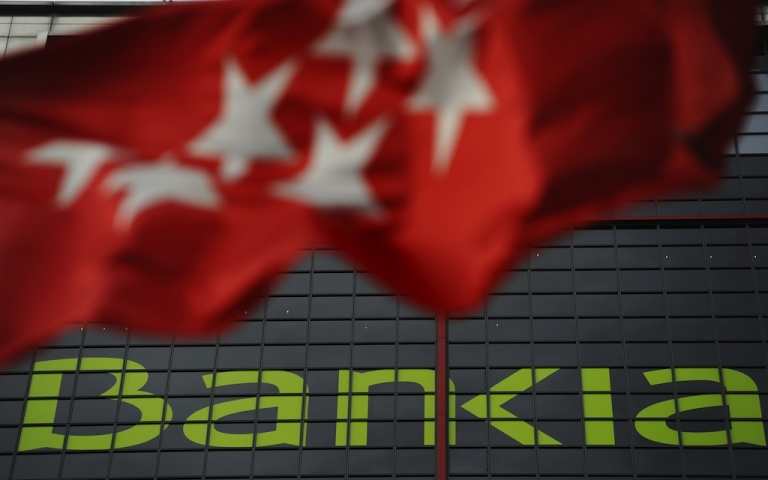 <p>Spanish bank Bankia's headquarters in Madrid.</p>