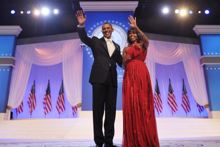 <p>President Barack Obama and First Lady Michelle Obama attend the Inaugural Ball at the Walter E. Washington Convention Center on January 21, 2013 in Washington, DC.</p>