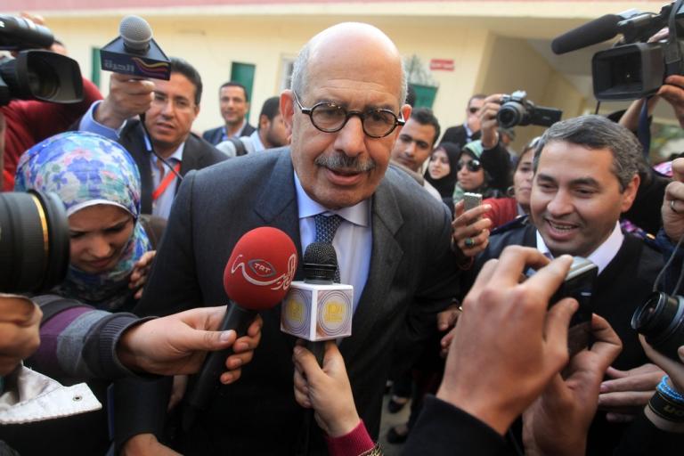 <p>Mohamed El Baradei, Nobel Prize winner and former International Atomic Energy Agency, was named Egypt's new interim leader on July 6, 2013.</p>