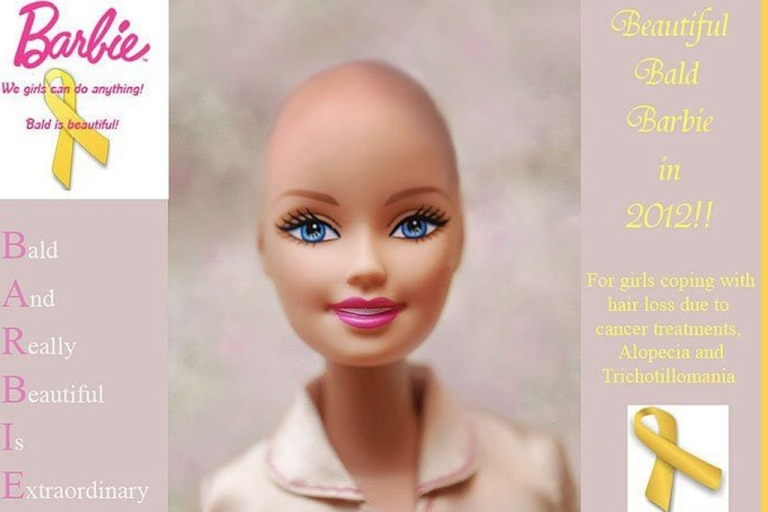 <p>Barbie going bald to support young girls with hair loss after Facebook campaign urging Mattel to make the doll.</p>