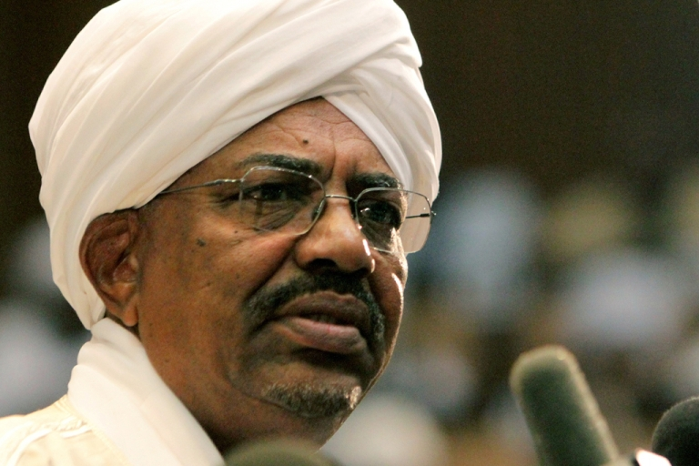 <p>Sudanese President Omar al-Bashir speaks to the People's Assembly in the capital Khartoum on July 12, 2011. Bashir is the only sitting president wanted by the International Criminal Court (ICC) for war crimes.</p>