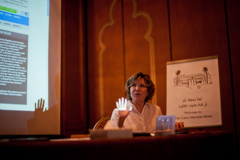 <p>NPR Middle East correspondent Deborah Amos speaks to the GlobalPost / Open Hands Initiative