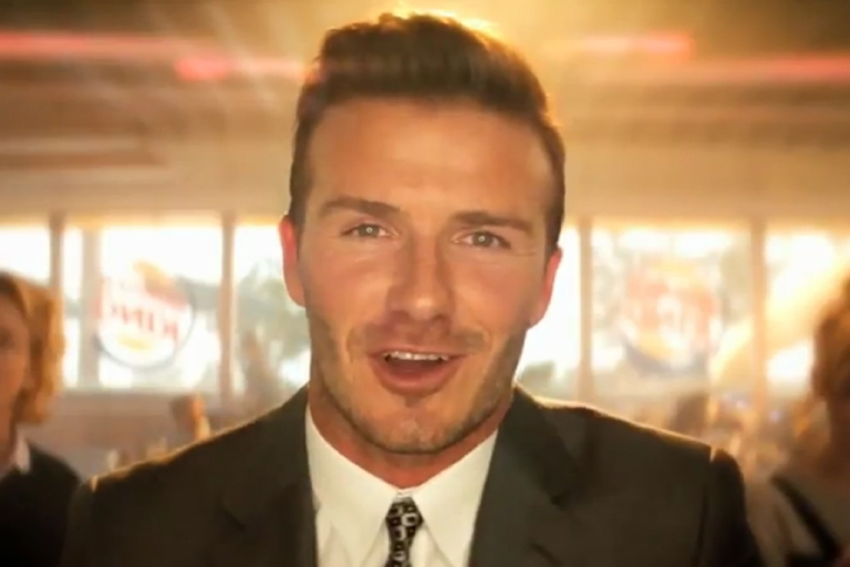 <p>Burger King launched a revamp of its brand on Monday with new advertisements like this one featuring soccer star David Beckham.</p>