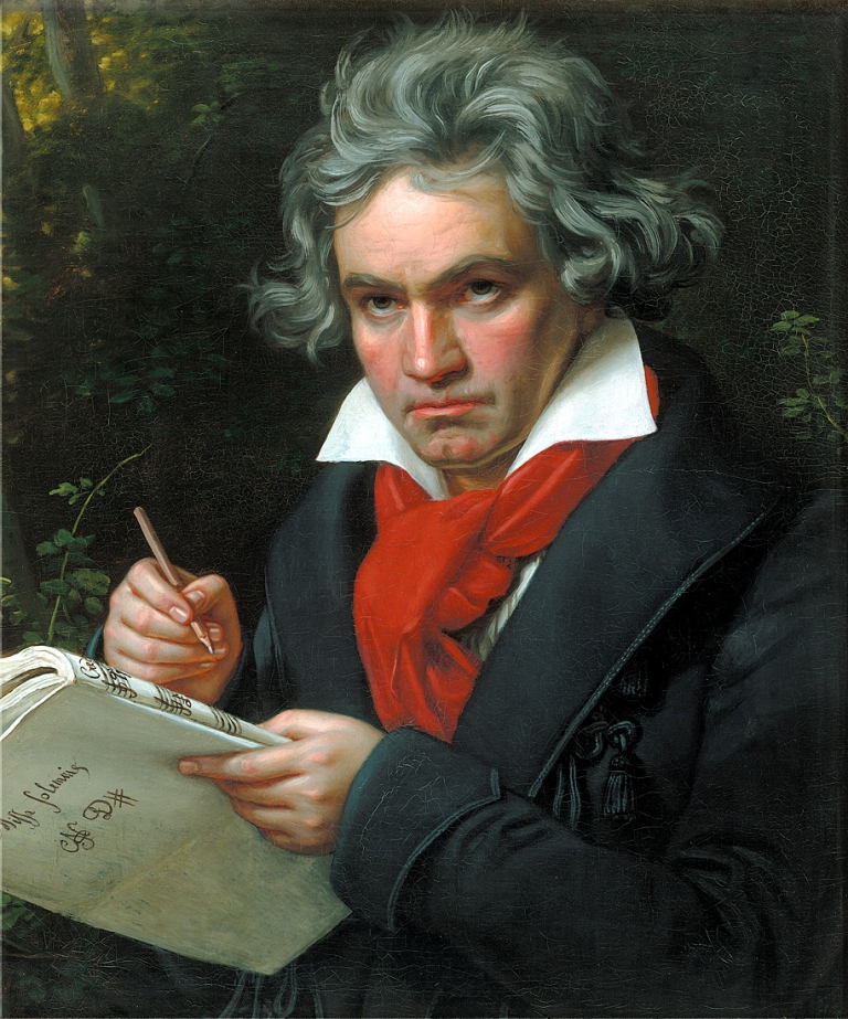 <p>Beethoven: great composer, messy handwriter.</p>