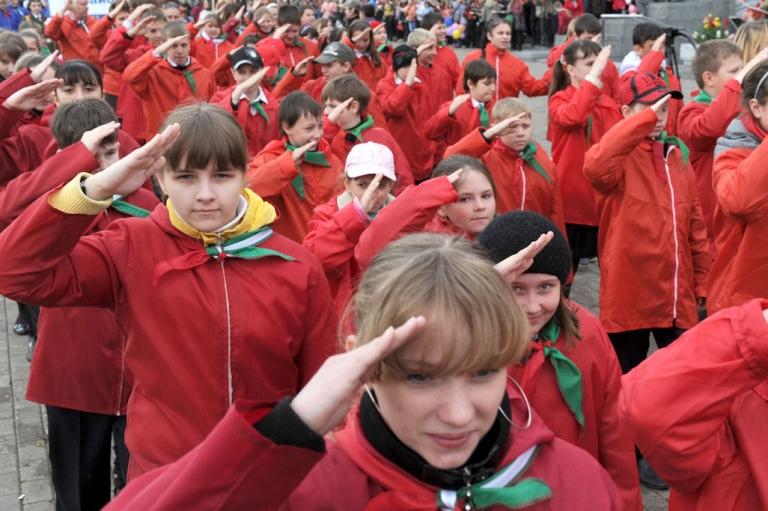 <p>Members of the Belarusian