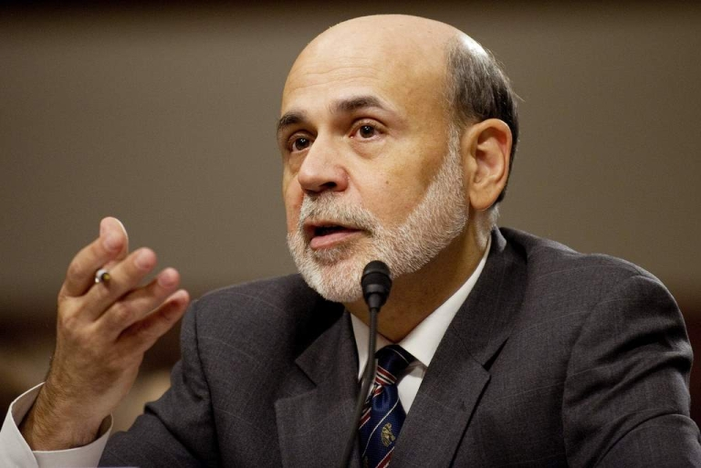 <p>Federal Reserve Chairman Ben Bernanke testifies before the Joint Economic Committee on Capitol Hill in Washington, DC, October 4, 2011. Bernanke on Tuesday said the United States may face yet more slow jobs growth, as he warned short-term budget cuts and financial turmoil could further threaten the economy.</p>