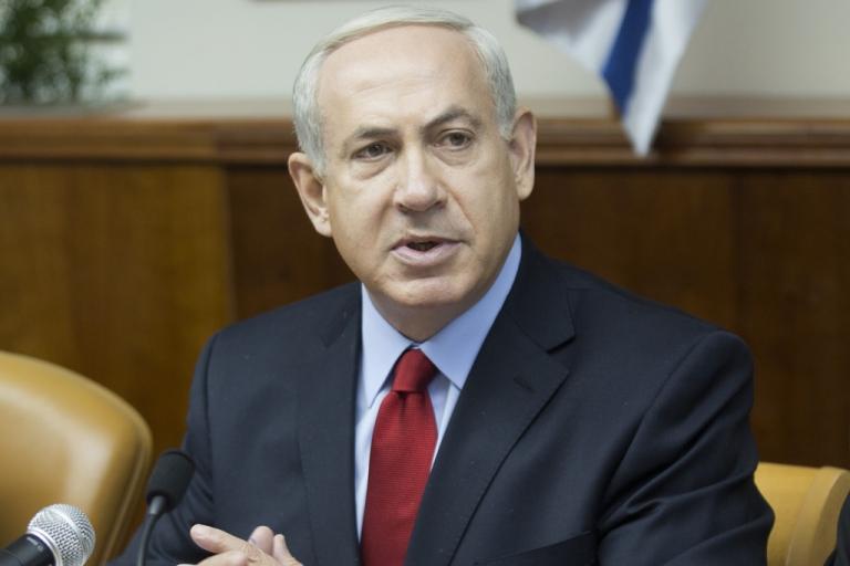 <p>Israeli Prime Minister Benjamin Netanyahu addresses the weekly cabinet meeting  on September 9, 2012 in Jerusalem.</p>