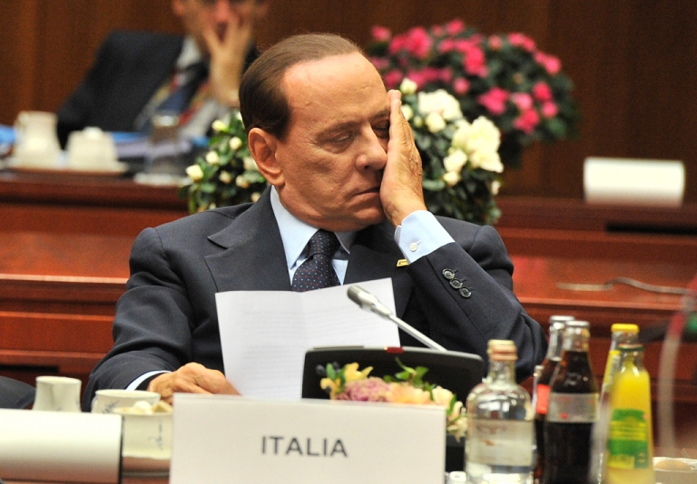 <p>Silvio Berlusconi shows the pressure at yesterday's Euro Summit in Brussels.  There is no relief in sight for Italy's Prime Minister as his colleagues pile pressure on him to take the necessary steps to stave off a possible sovereign debt crisis in Italy.</p>