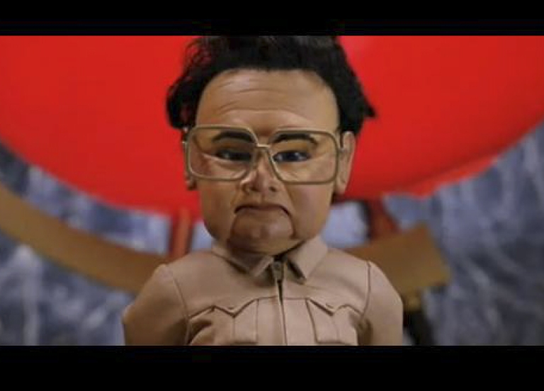 <p>In perhaps the best-known Kim Jong Il spoof, a puppet Kim Jong Il performs the song