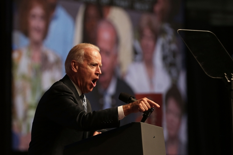 <p>Vice President Joe Biden addressed the NAACP and rallied support for President Barack Obama on July 12, 2012.</p>