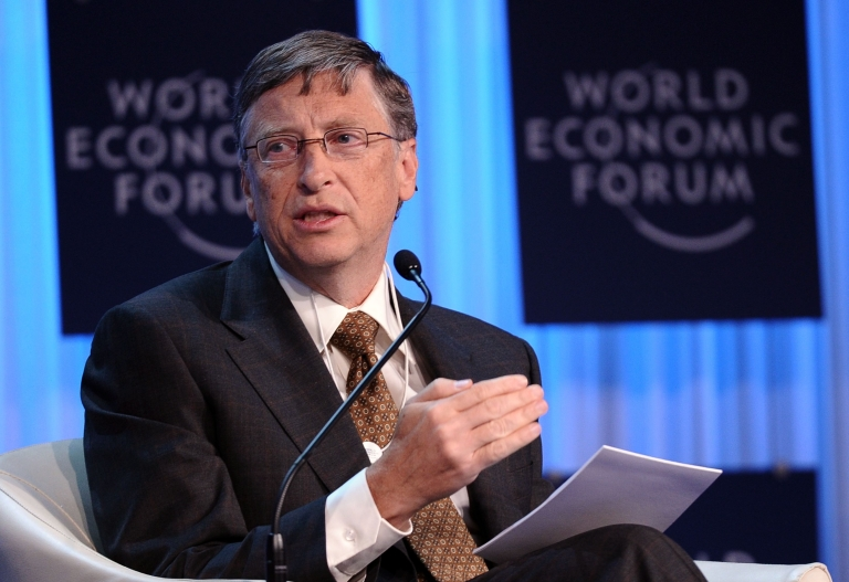 "<p>Speaking in Davos, Switzerland at the World Economic Forum's annual meeting, Gates called on governments to continue their support for saving lives, saying ""these are tough economic times, but that is no excuse for cutting aid to the world's poorest.""</p>"