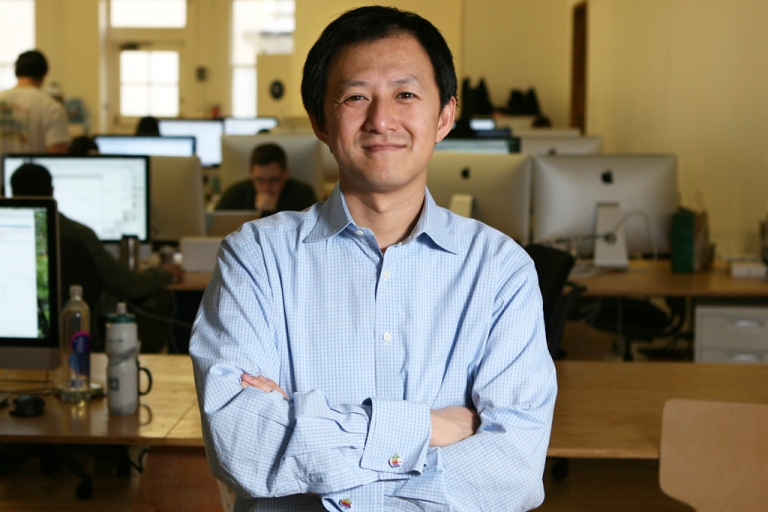 <p>Bill Nguyen, founder of the technology startup Color, stands at their headquaters on March 21, 2011 in California. Although the company was a financial failure, its innovative patents likely motivated Apple's decision to purchase the startup.</p>