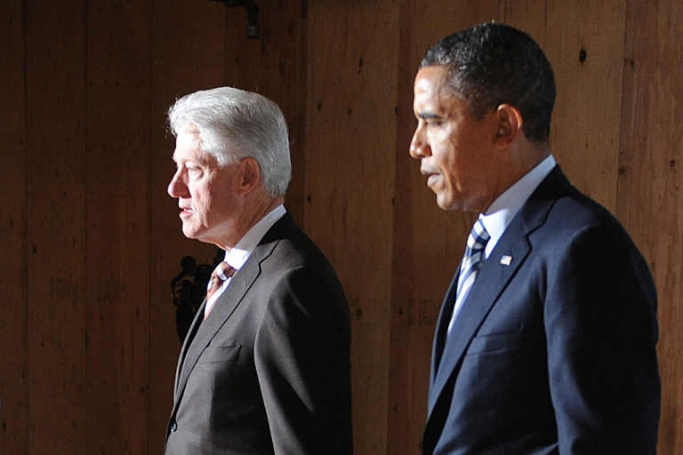 <p>President Barack Obama will be holding joint fundraisers with former President Bill Clinton, starting with one on April 29, 2012.</p>