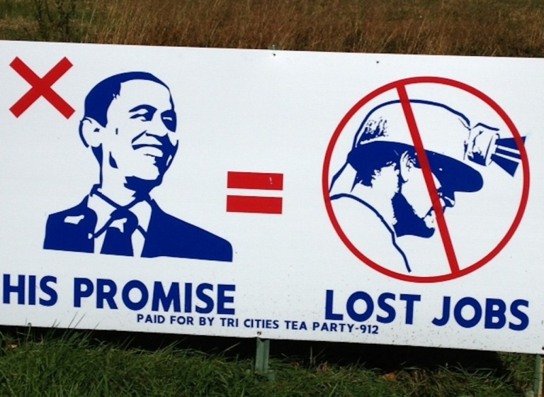 <p>In Virginia, a tried-and-true coal-mining state, anti-Obama billboards like these are everywhere.</p>