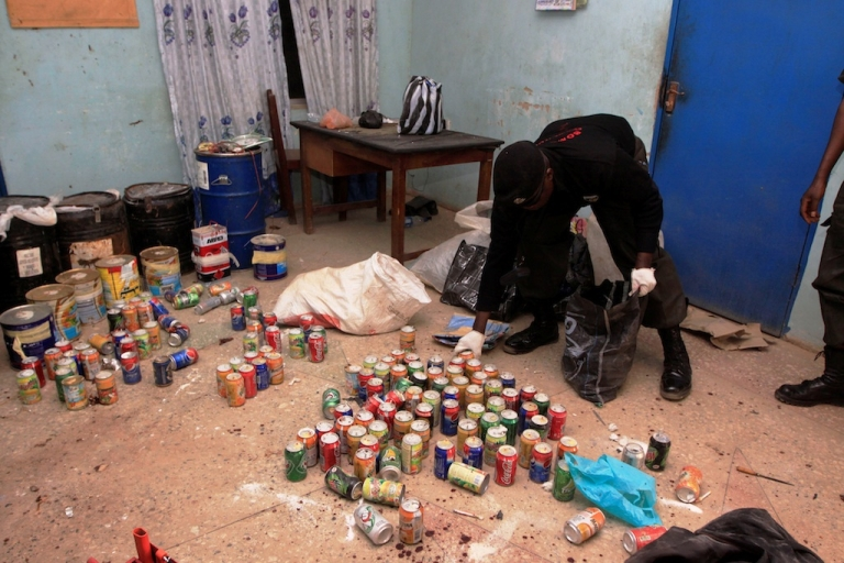 <p>In the Nigerian city of Kano on Jan. 24, 2012, police recovered over 300 undetonated improvised explosive devices in various parts of the city, a day after multiple explosions and gun assaults by Boko Haram which killed 185 people.</p>