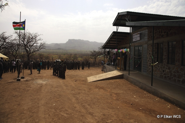 <p>This photo shows Boma National Park Headquarters opening ceremony in the Republic of South Sudan on Mar. 8, 2012. Photo © Paul Elkan WCS</p>