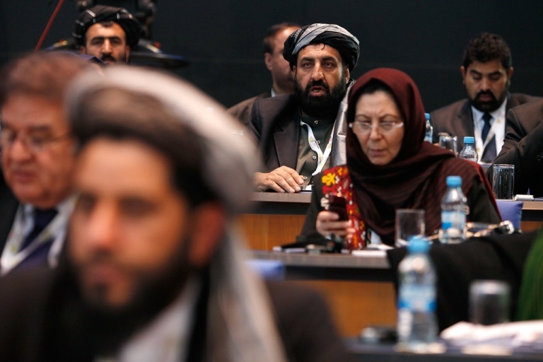 <p>The Afghan delegation attends the 10th annual international Afghanistan conference on Dec. 5, 2011 in Bonn, Germany.</p>