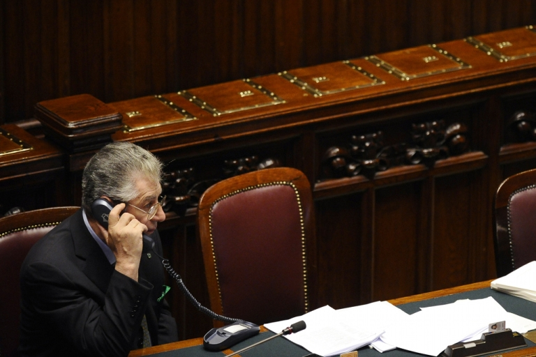 <p>Italian politician Umberto Bossi (pictured last week in the Italian parliament) has a bunt message to new Prime Minister Mario Monti is, Call me if you want to talk ... but I make no promises.</p>